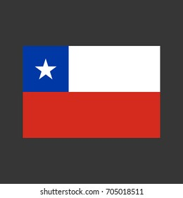 Chile flag on the grey background. Vector illustration