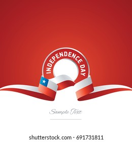 Chile Independence Day ribbon logo icon