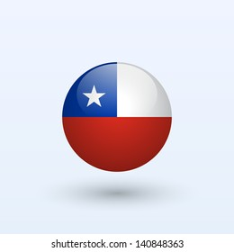 Chile round flag. Vector illustration.