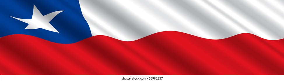 Chilean Flag in the Wind
