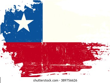 Chilean scratched Flag. A Chilean flag with a grunge texture