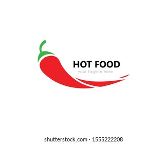 Chili logo design. This logo would be perfect for any kind of restaurant or street food business. Vector illustration