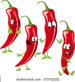 chili pepper cartoon  isolated on white background