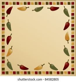chili pepper frame background ready for your text
