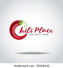 Chili pepper icon design for Mexican or Indian restaurant or other business. EPS 10 Vector.