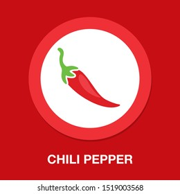 chili pepper icon, spicy vegetable illustration, spicy mexican food