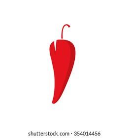 Chili pepper logo vector illustration, spicy food symbol template, hot shape label, flat icon modern design logotype isolated on white