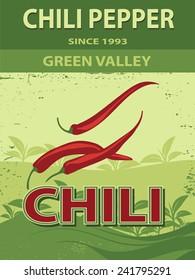 Chili pepper poster