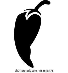 Chili pepper vegetable outline vector icon