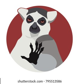 Chill out lemur vector graphic