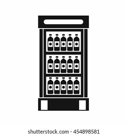 Chiller or fridge icon simple. illustration of fridge or chiller icon vector for web. Supermarket cooler