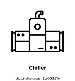 Chiller icon vector isolated on white background, Chiller transparent sign , line and outline elements in linear style