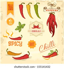 chilli, chili, pepper vegetables, product label packaging design