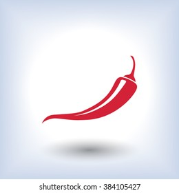 chilli, pepper, icon. One of set web icons