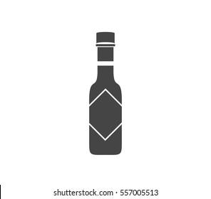 Chilli sauce vector icon. Pepper sauce vector. Sauce vector icon. Bbq sauce bottle.