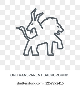 Chimera icon. Trendy flat vector Chimera icon on transparent background from Fairy Tale collection. High quality filled Chimera symbol use for web and mobile