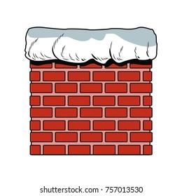 Chimney in bricks