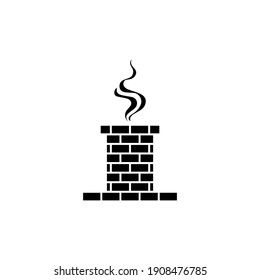 Chimney icon. Vector illustration, simple design, flat style.