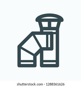 Chimney pipes and steel elements vector icon