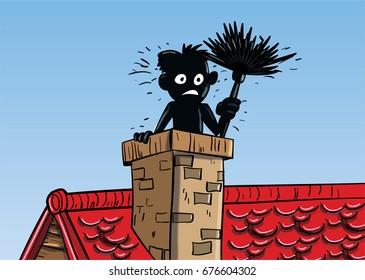 Chimney sweep cartoon