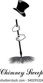 Chimney sweep. Vector