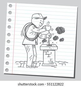 Chimney sweeper man