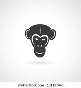 Chimpanzee head - vector illustration