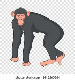 Chimpanzee icon. Cartoon illustration of chimpanzee vector icon for web