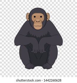 Chimpanzee icon. Cartoon illustration of chimpanzee vector icon for web