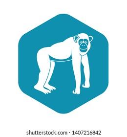 Chimpanzee icon. Simple illustration of  chimpanzee vector icon for web