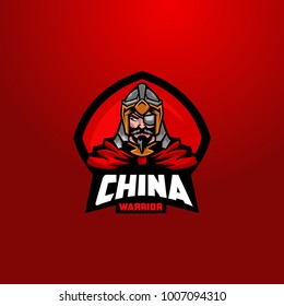 China army ancient dynasty mascot logo
