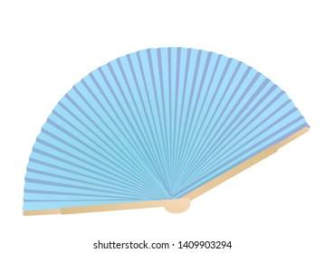 China blue fan. vector illustration