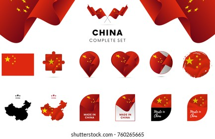 China complete set. Vector illustration.