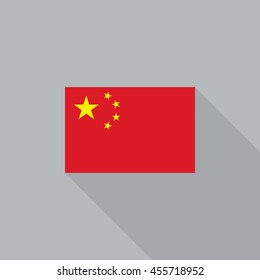 China flag flat design vector illustration
