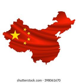 China Flag map icon