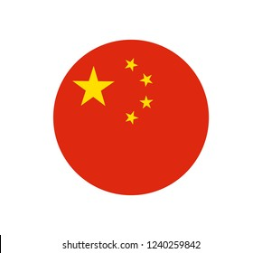 China flag, official colors and proportion correctly. National China flag. Vector illustration. EPS10. original and simple People's Republic of China flag  in official colors and Proportion Correctly