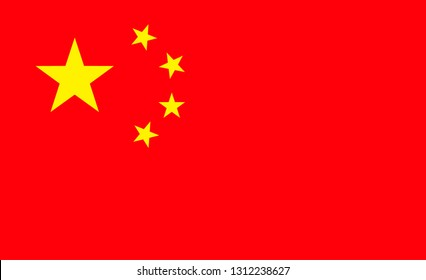 China  flag. Simple vector China  flag