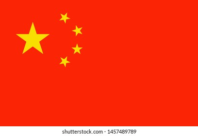 China flag simple, vector china official republic, illustration nationality empire emblem, national banner of patriot, chinese nation, asia east. Country chinese goverment