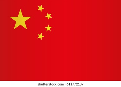 China flag vector. Chinese flag eps10. China flag.