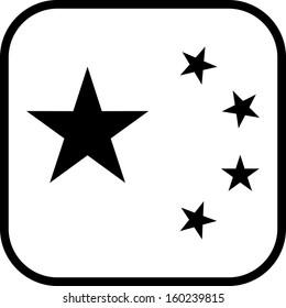 China flag vector icon