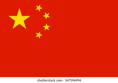 China flag vector icon.
