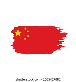China flag, vector illustration