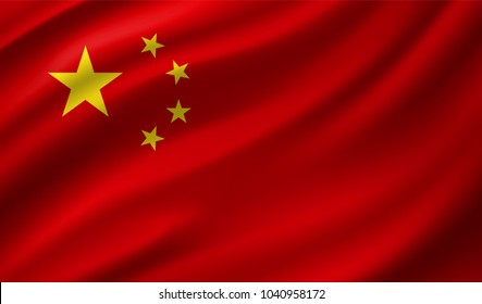 China Flag in Vector Illustration