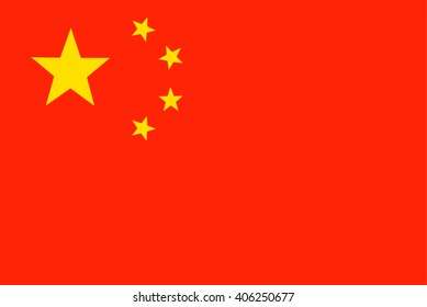 China Flag. Vector illustration flag , Symbolic that represent to China. For several concept and occasional (National Day,Sport,Currency,Travel,etc.)