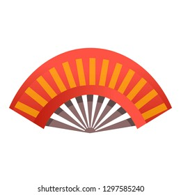 China hand fan icon. Cartoon of china hand fan vector icon for web design isolated on white background