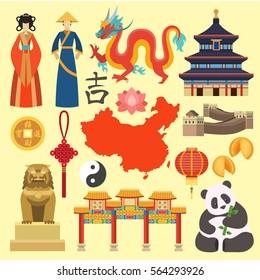 China icons vector.