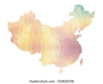 China Map of Polygonal Style