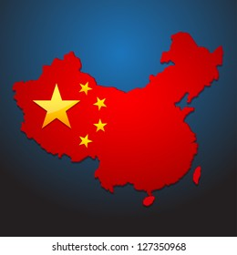 china map vector