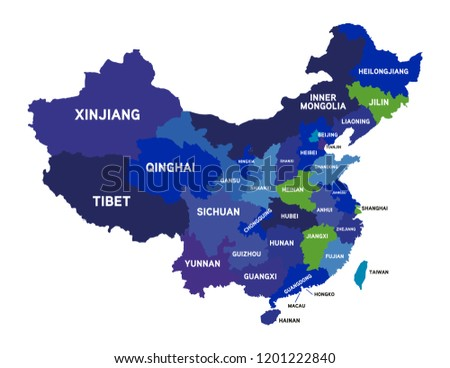 China Map Vector Stock Vector Royalty Free 1201222840 Shutterstock