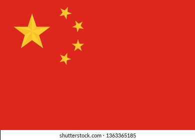 china national country flag red background yellow stars